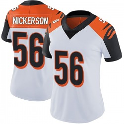 Nike Hardy Nickerson Cincinnati Bengals Women's Limited White Vapor Untouchable Jersey